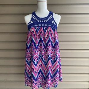 •Jolt• Sleeveless Crochet Tunic Top - Size Small